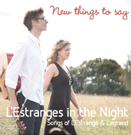 CD Cover - New Things To Say by L'Estranges in the Night